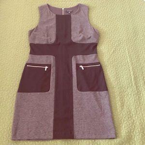 Black and Gray Sleeveless Knit Dress